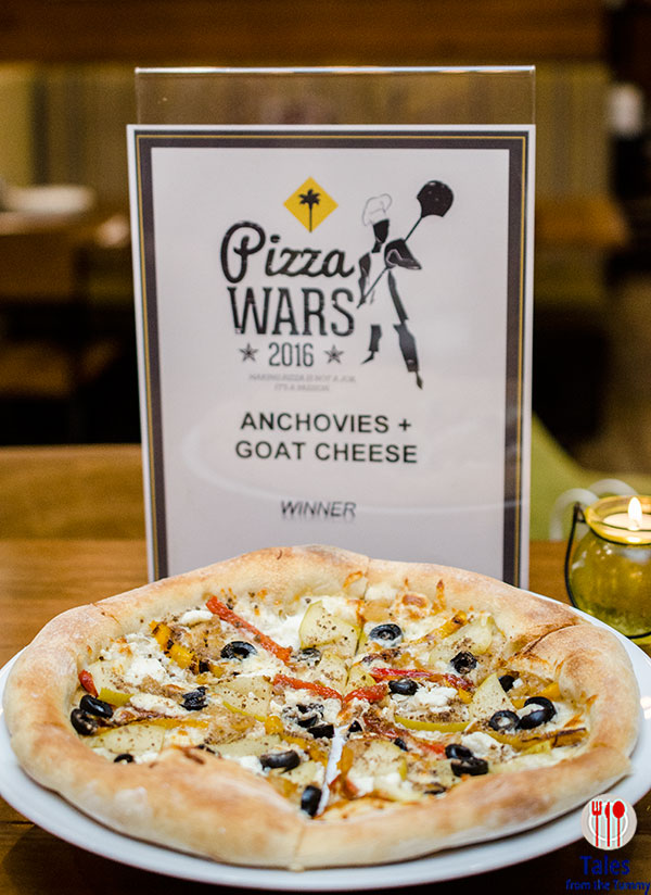 CPK National Pizza Wars 2016 Anchovies and Goat Cheese