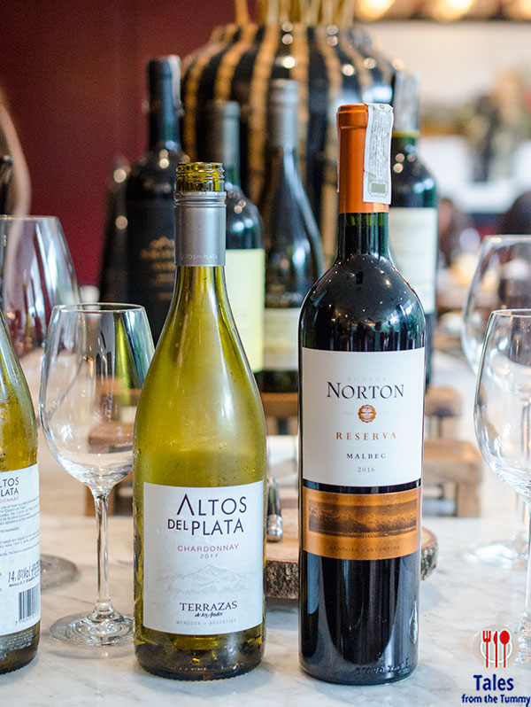 Altos del Plata chardonnay and Norton Reserva Malbec