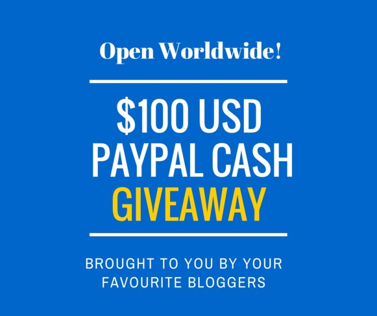 $100 PAYPAL your favourite bloggers_
