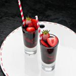Strawberry Red Vodka Drink for Valentine's Day