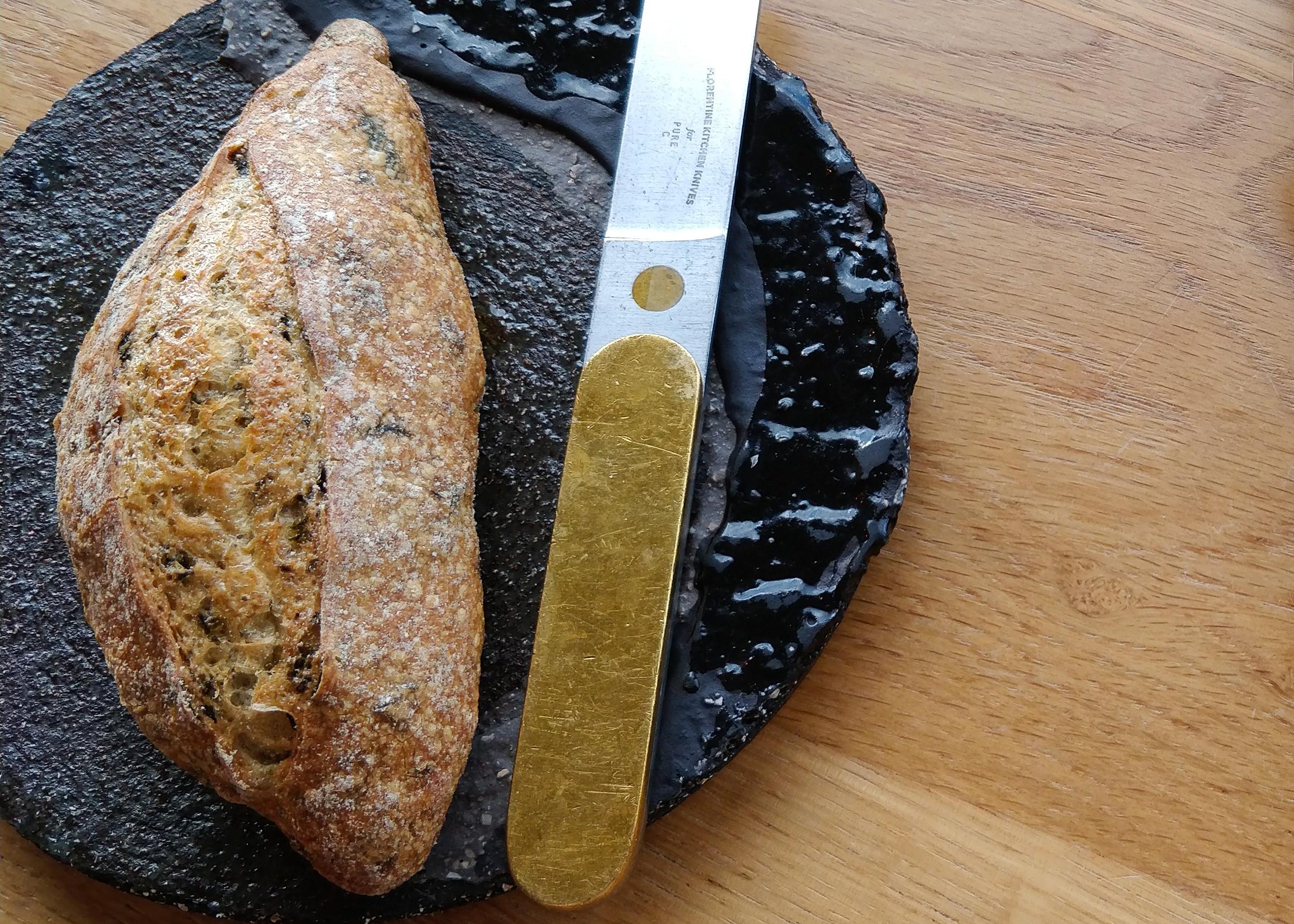 Algae bread @ restaurant Pure-C