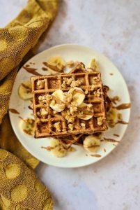 Gluten-free Banana breakfast waffles recipe