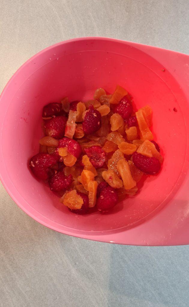 Raspberry, apricot, prosecco Turnover filling