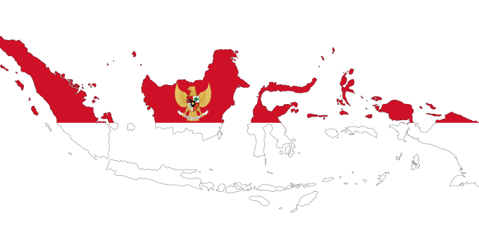 Indonesian map as flag