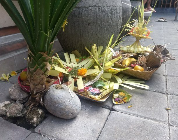 balinese offers where the placenta was burried