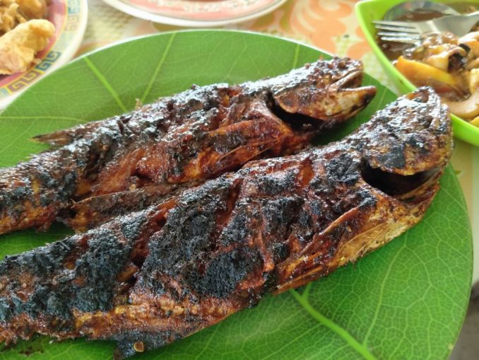 Fresh grilled fish at yogyakarta beach