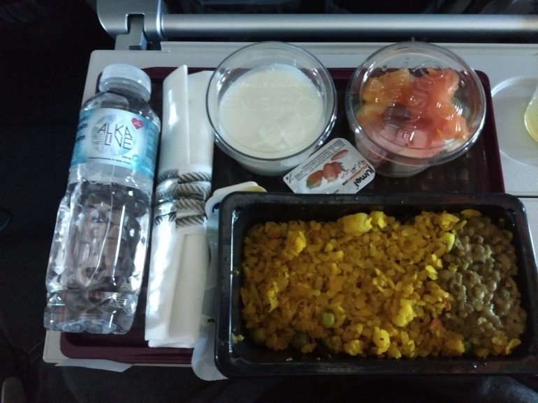 Vegetarian lacta-ove from Qatar Airways
