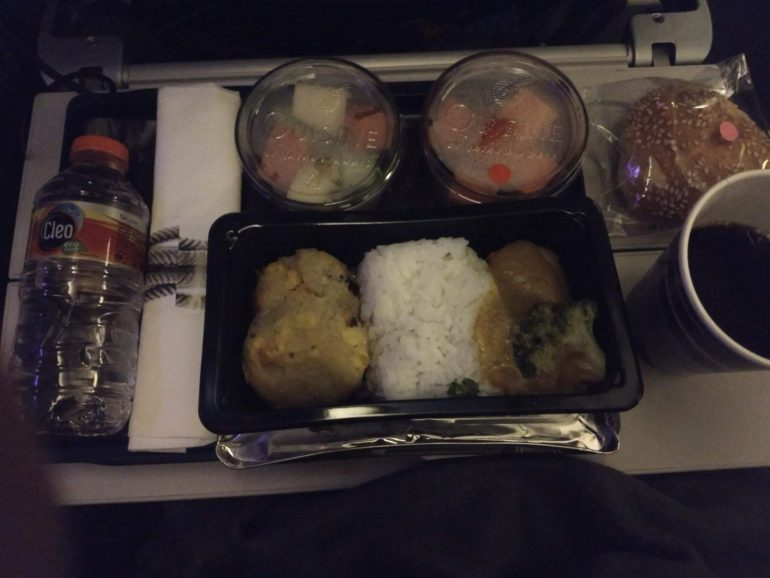 1 broccoli Qatar airways meal