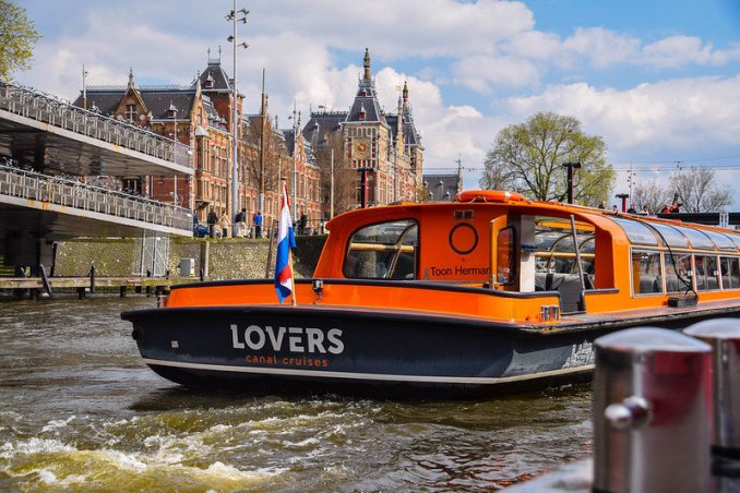 Amsterdam canals Lovers boat