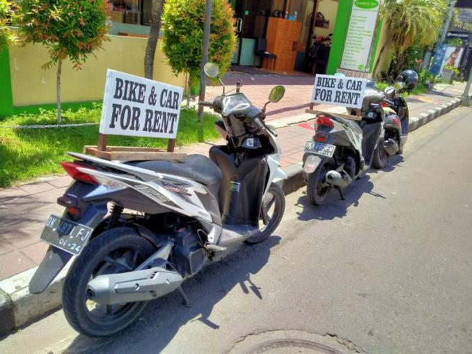 Bali Scooters for rent