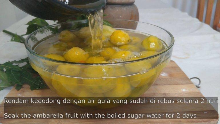 pickling the fruit