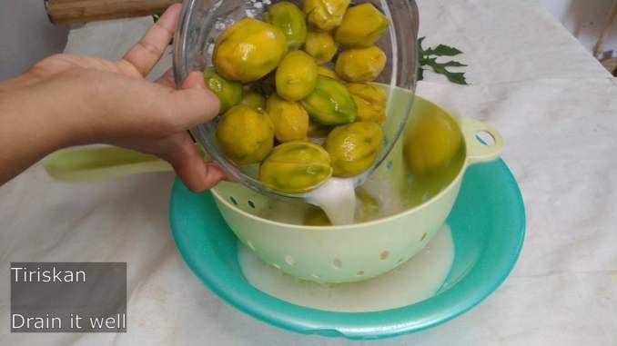 seperating water from ambarella