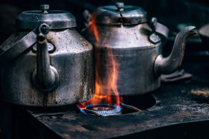 Cooking Gas with kettle