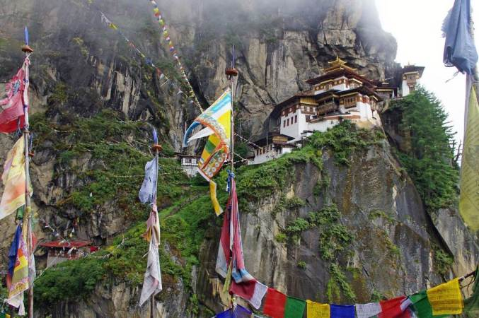 Bhutan Temple in the mountain