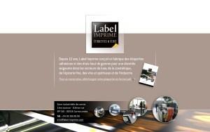 LABEL IMPRIME site internet Paris et Nice Talidad Agence de Communication Paris et Nice