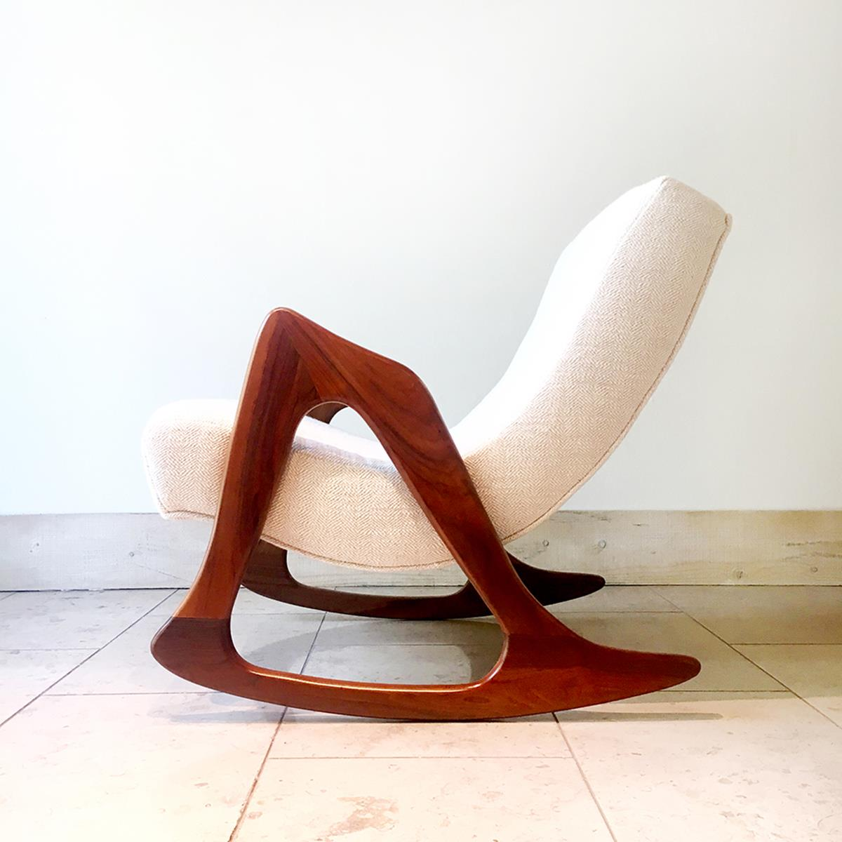 adrian pearsall rocking chair large armless slipcover talisman and stool 1960s alternate image previous item next