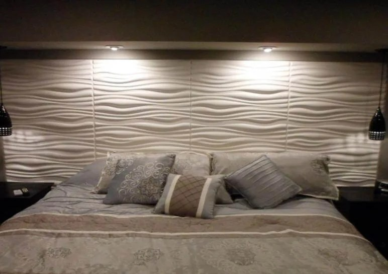 Home Redesign Ideas Projects With Ceiling Tiles And 3d Wall Panels