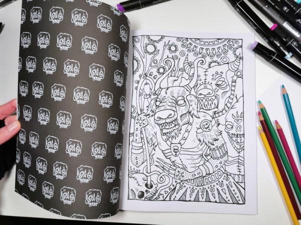 Creepy Creatures Coloring Book Detail 6