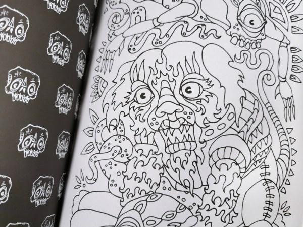Creepy Creatures Coloring Book Detail 2