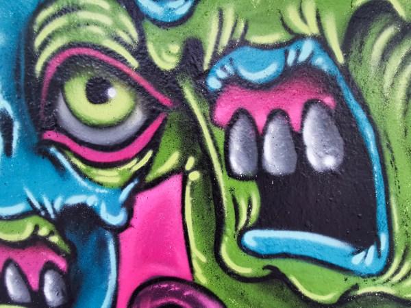 Colorful Demons Mural Detail 4
