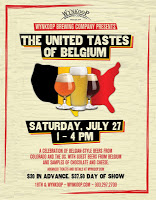 United Tastes of Belgium @ Wynkoop Brewing Co., Denver July 27th!