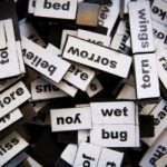 words, jargon (image unsplash @ glen carrie)