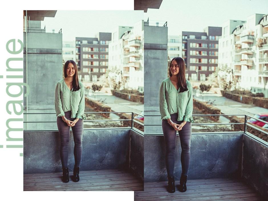 mintfarbene bluse und graue skinny jeans zara sacha primark (1)