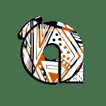 ACE KENTE orange and black