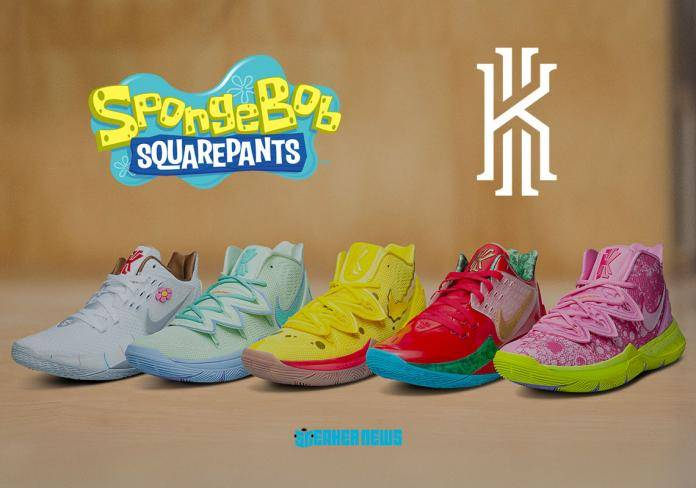 Kyrie Irving is teaming up with Nike to make SpongeBob shoes   TalkBasket.net