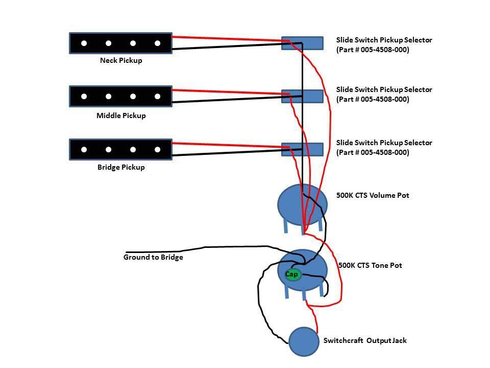 emg wiring diagram light switch outlet combo three (3) jazz pickup bass   talkbass.com
