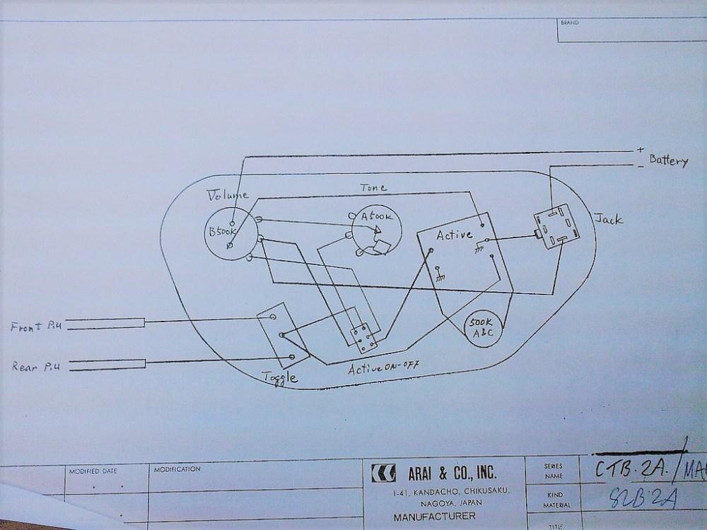 medium resolution of aria bass wiring diagram