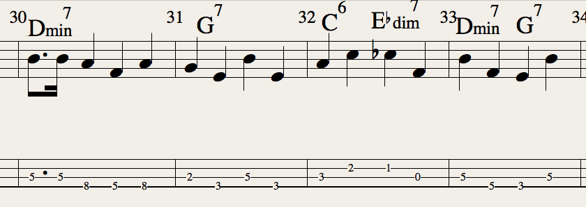 Bass line bars not starting on root (iReal b and