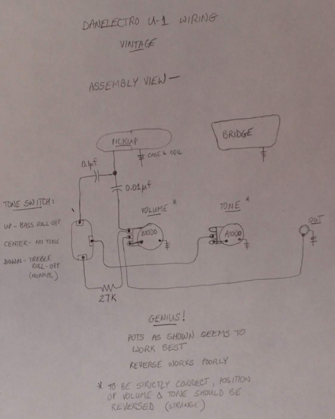 single pickup guitar wiring diagram 2005 scion xb belt danelectro fab schematic get free image about