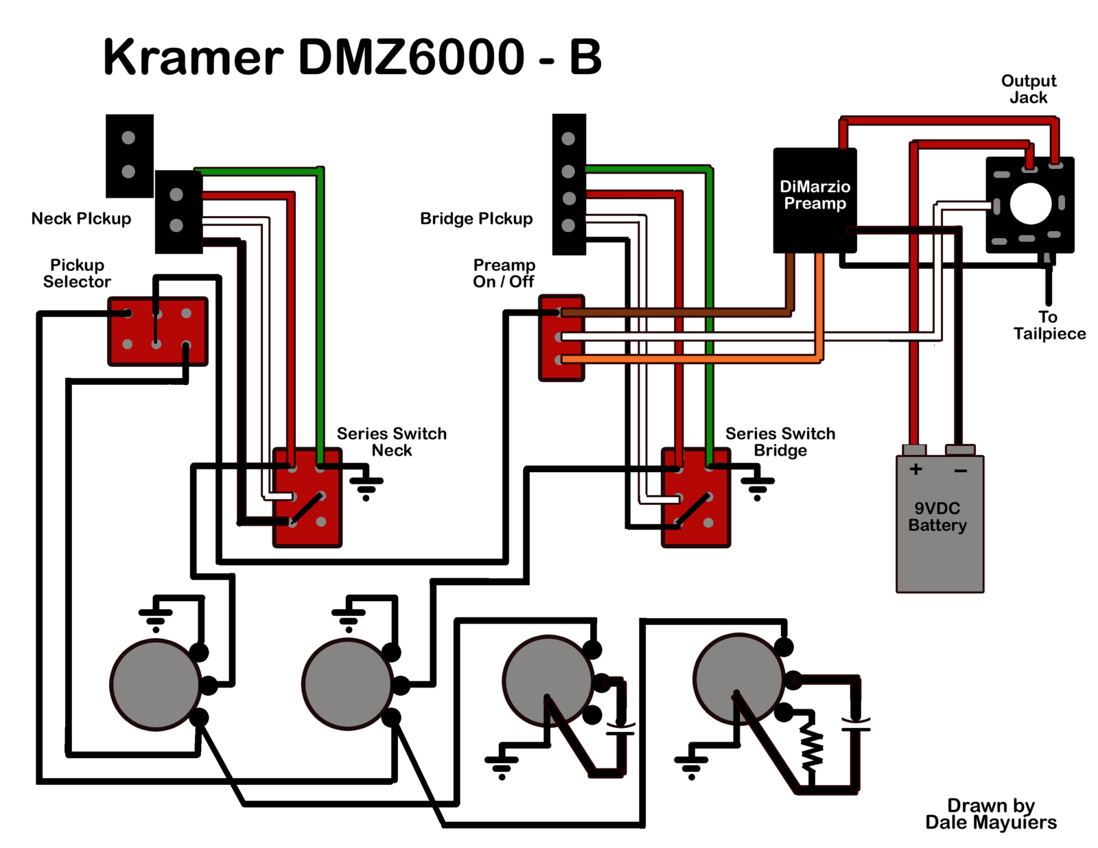 hight resolution of kramer dmz6000 wiring diagram with dimarzio preamp talkbass comdmz6000 wiring diagram png