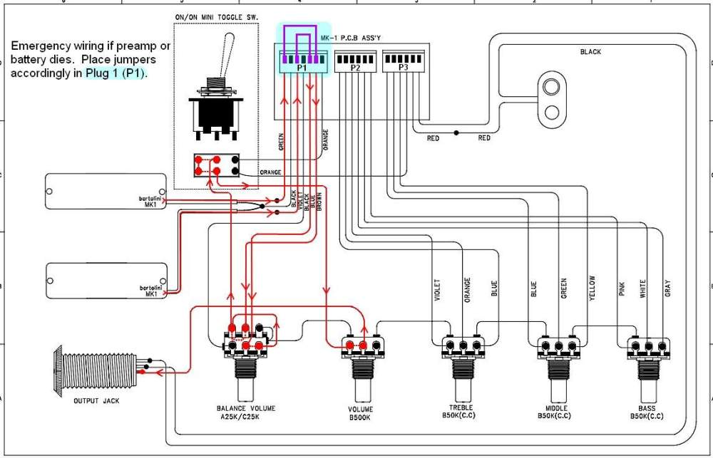 medium resolution of turning an active bass battery free talkbass comcort guitar wiring diagram 14
