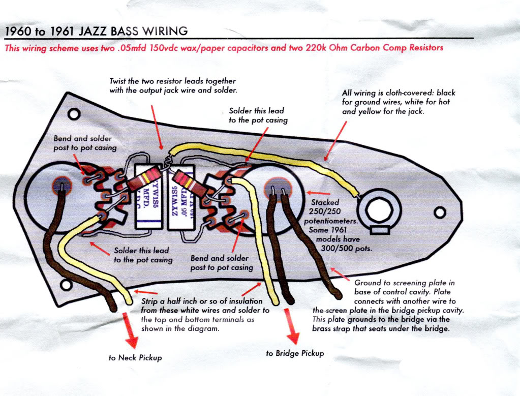Is This '60 '61 Jazz Stack Knob Diagram Correct? TalkBass Com