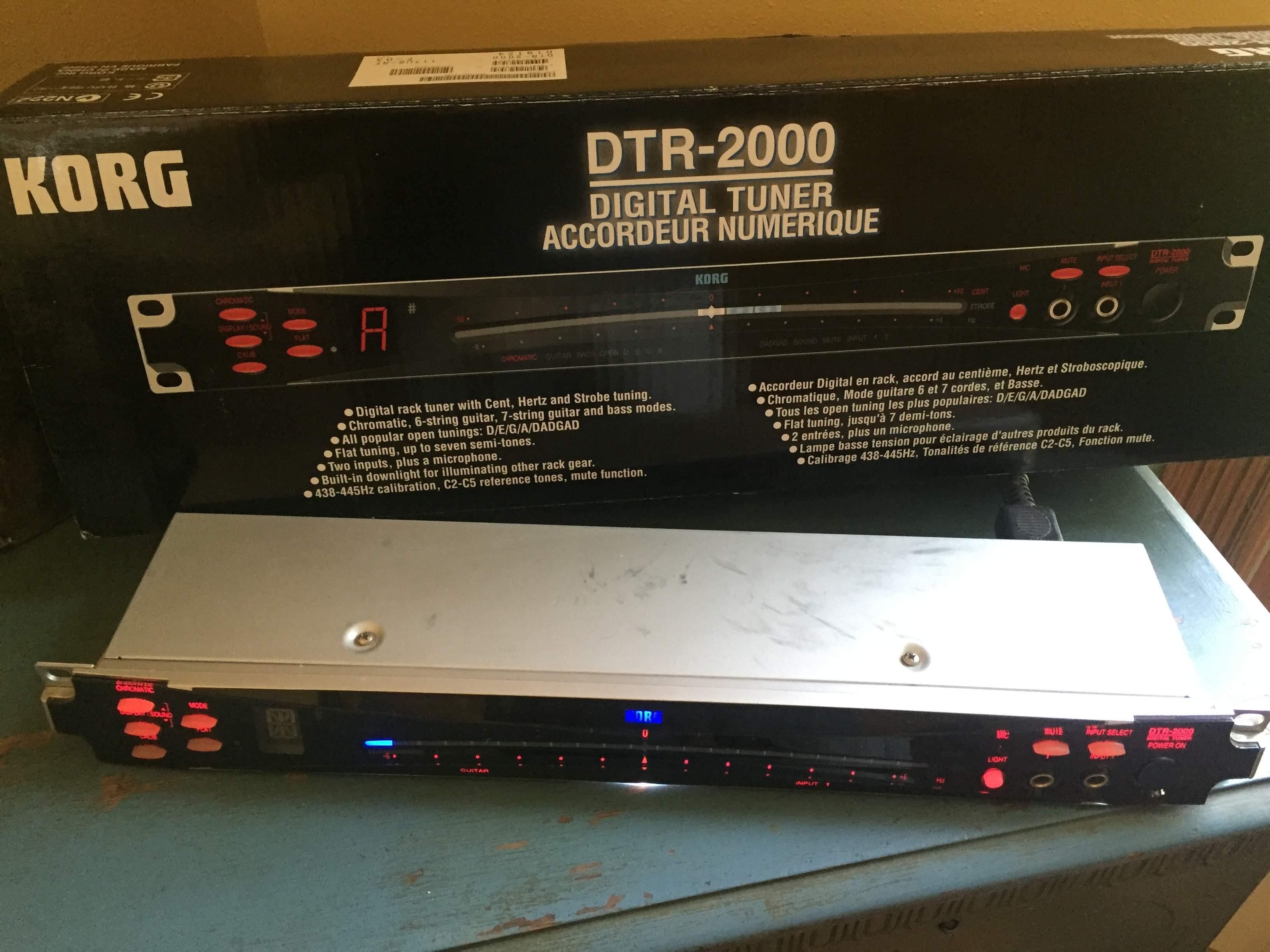 korg dtr 2000 tuner with oiginal box