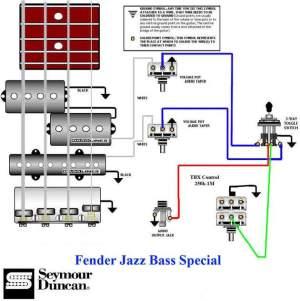 Fender Jazz Bass Wiring Diagram  efcaviation