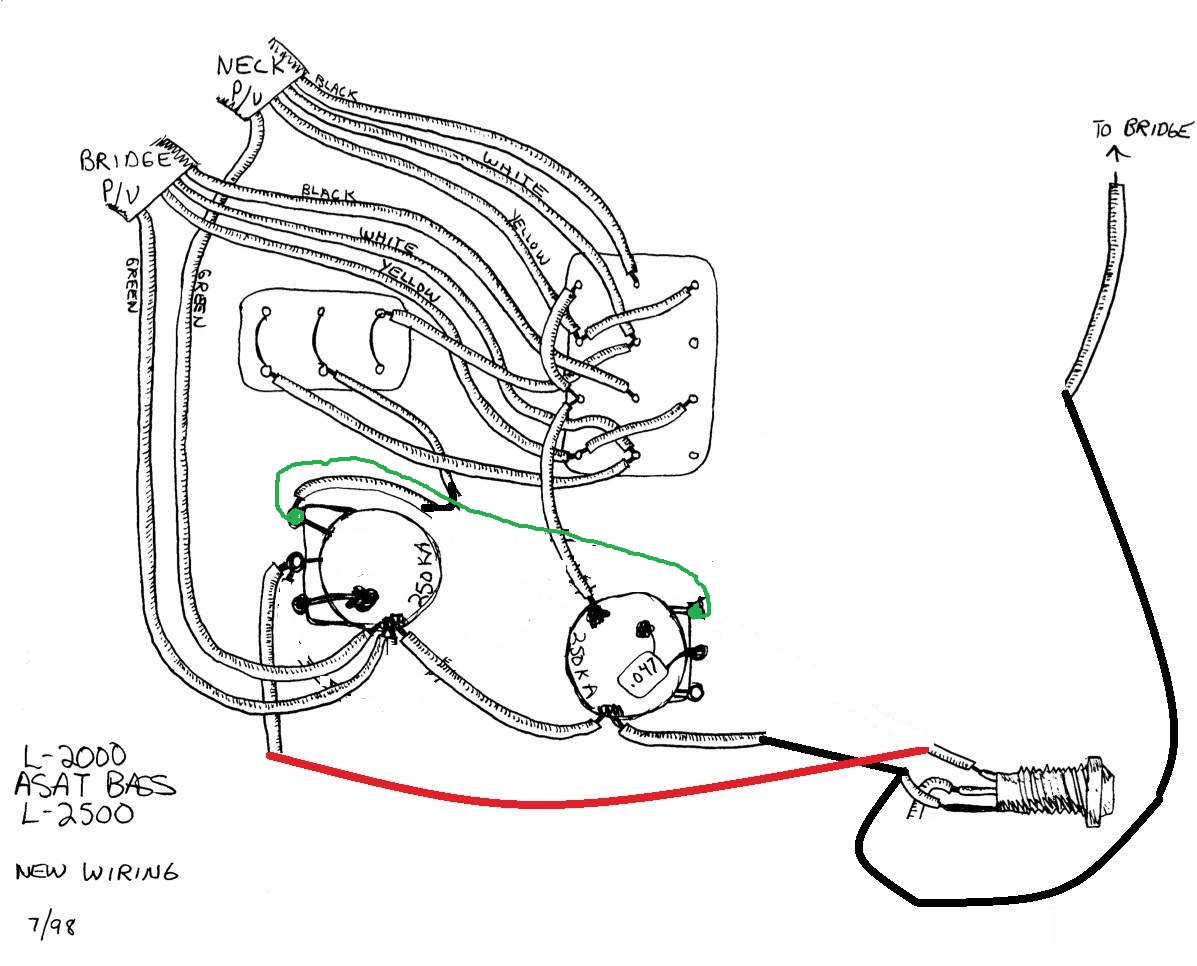 Wiring Diagram for Custom G&L MFD Humbucker Setup