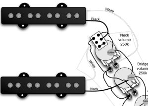 Jazz Bass series switch wiring when my pickups are already