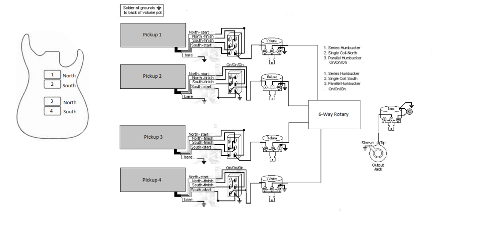 medium resolution of wiring a 6 position rotary switch talkbass com 6 way rotary switch wiring diagram