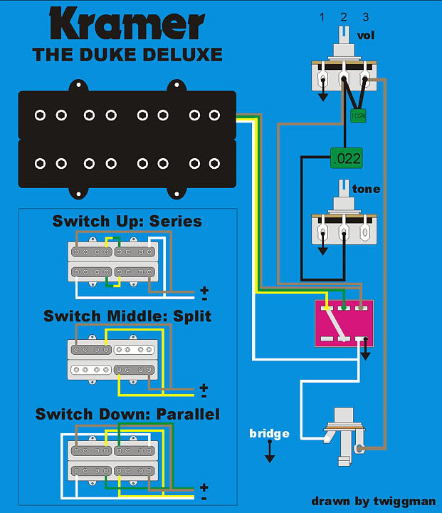 Dual Humbucker Split Wiring Diagram