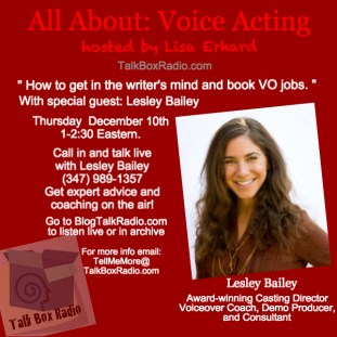Lesley Bailey voice coaching, casting director