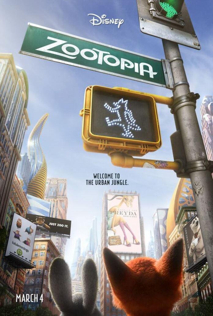 Disney Zootopia movie poster