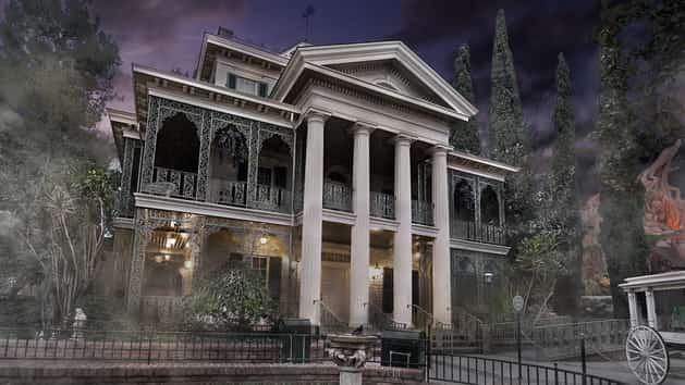 disneyland haunted mansion fog outside