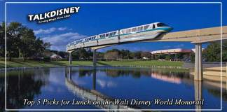 Top 5 Picks for Lunch on the Walt Disney World Monorail