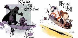 Calvin and Hobbes Star Wars