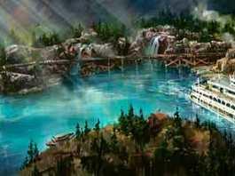Rivers of America Waterfront Disneyland Railroad