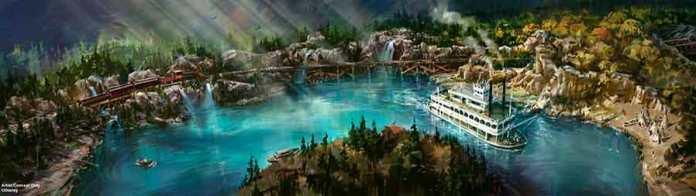 Rivers of America Waterfront Disneyland Railroad