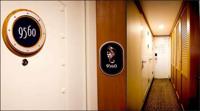 cruise line stateroom cabin door